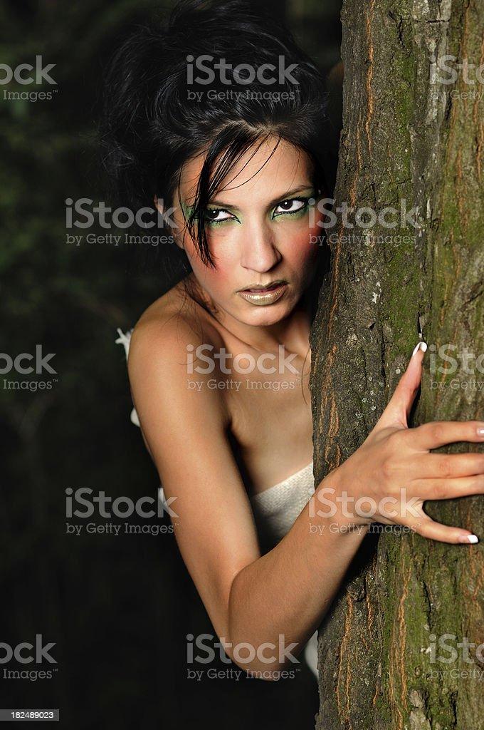 Wild woman stock photo
