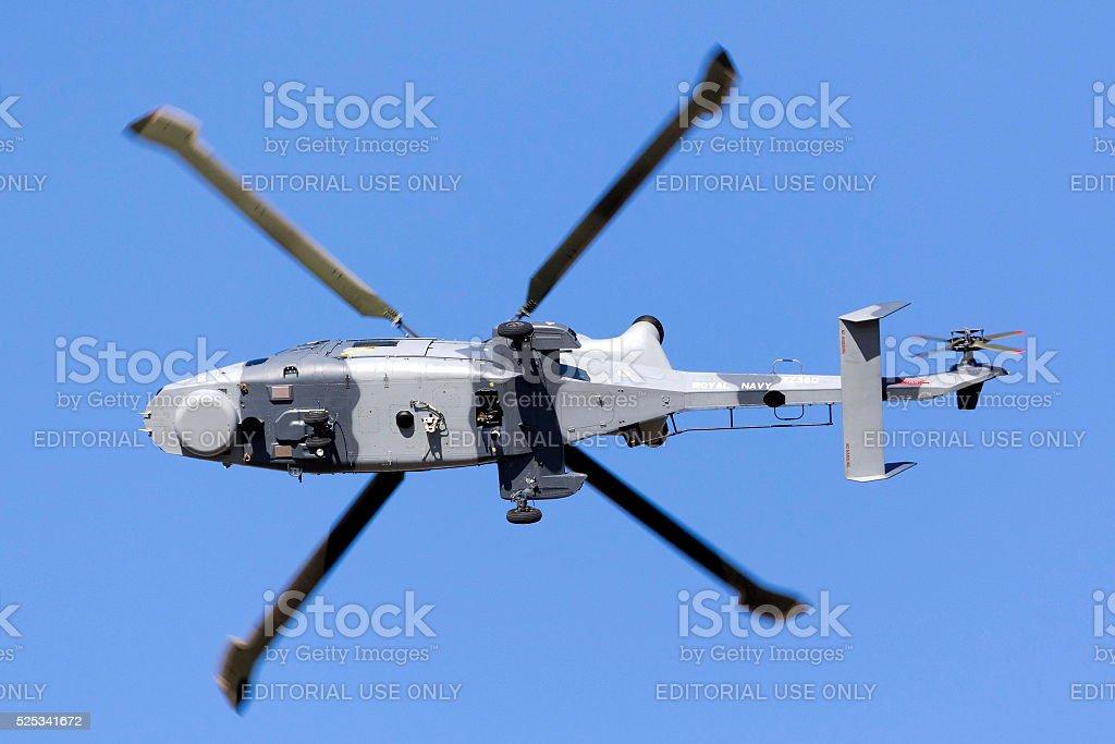 Wildcat Helicopter seen from below stock photo