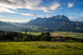 Picture was taken shortly before sunset in October 2020 in St. Johann in Tirol, Austria.