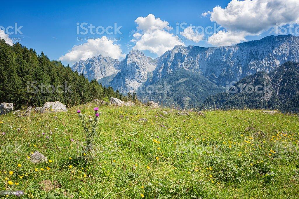 Wilder Kaiser Mountain Range, Austria stock photo