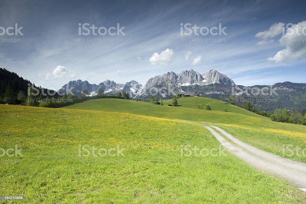 Wilder Kaiser mountain range stock photo