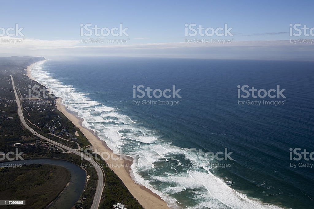 Wilderness Beach, Garden Route stock photo