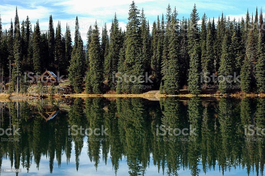 Wilderness Cabin stock photo