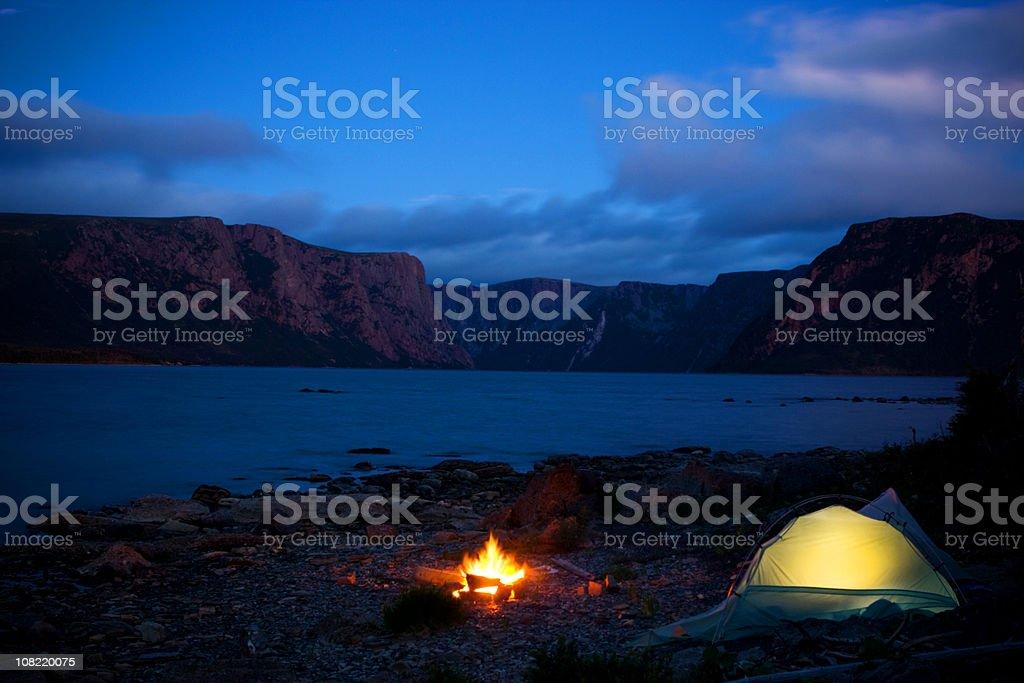 Wilderness Campsite royalty-free stock photo