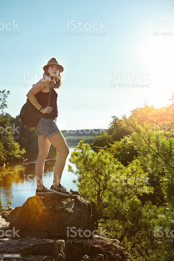 Wilderness is not a luxury but a necessity stock photo