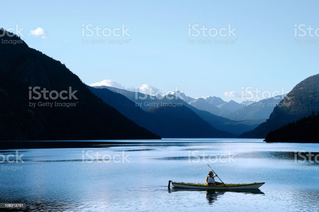XXL wilderness kayaking stock photo
