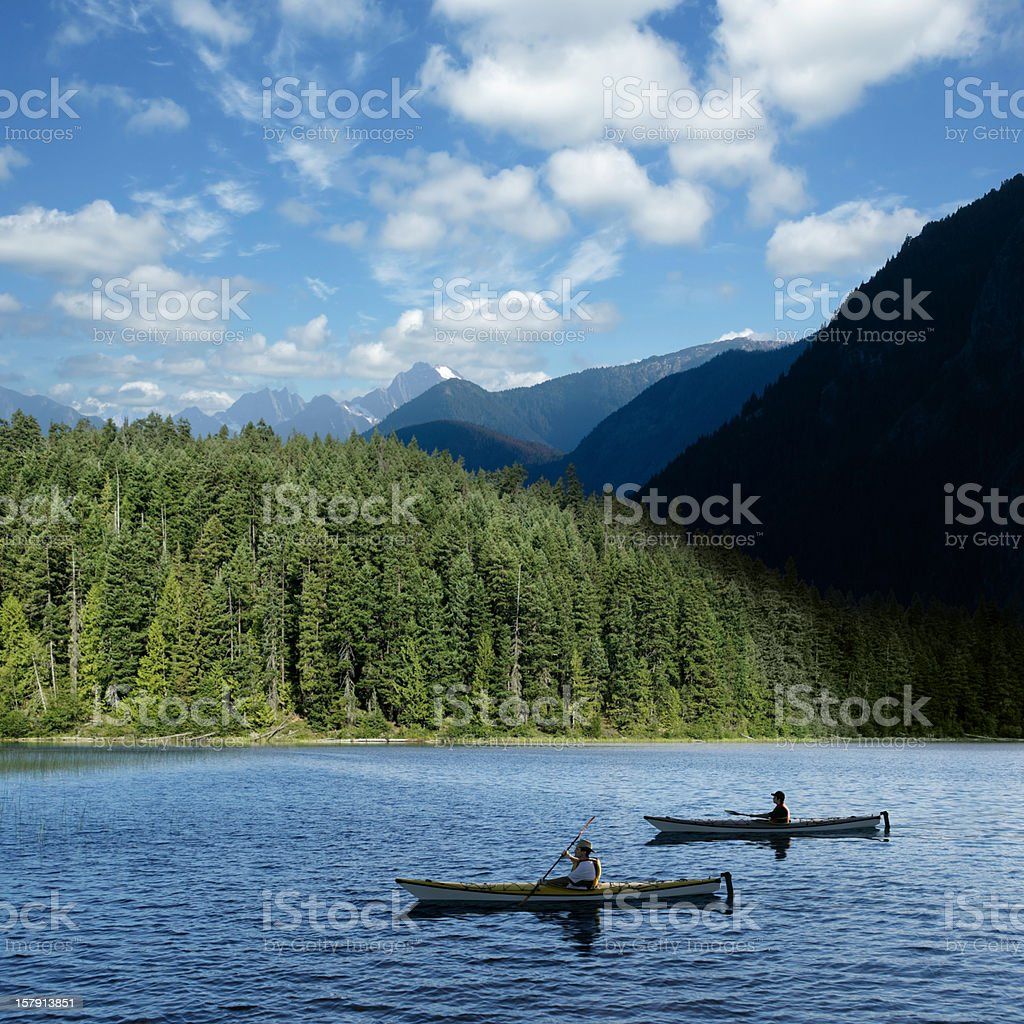 XXXL wilderness kayaking royalty-free stock photo