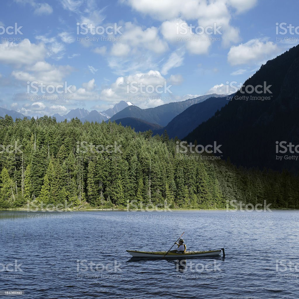 XXXL wilderness kayaking stock photo