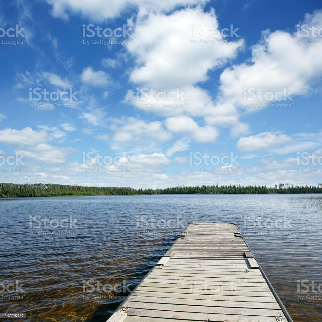 XXXL wilderness lake stock photo