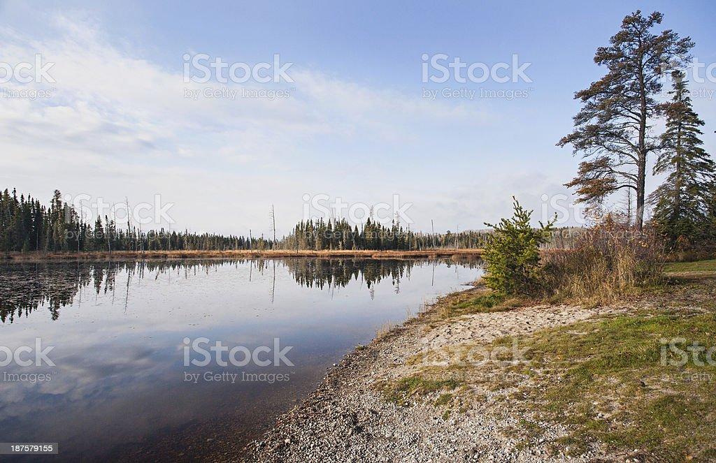 Wilderness Lake royalty-free stock photo