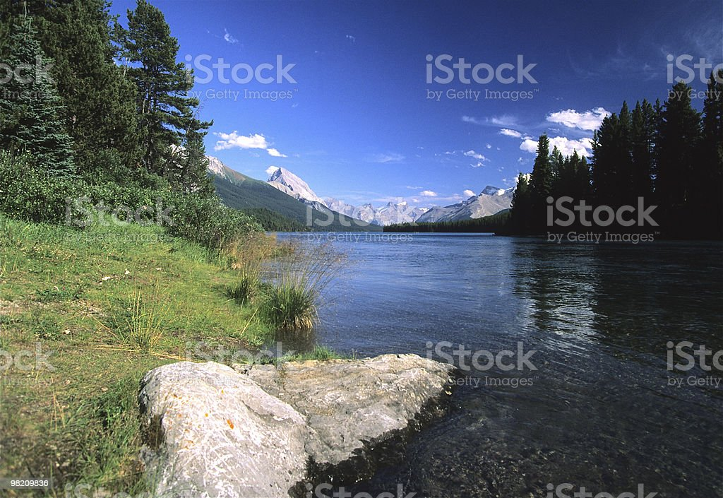 Wilderness Mountain Lake Scenic royalty-free stock photo