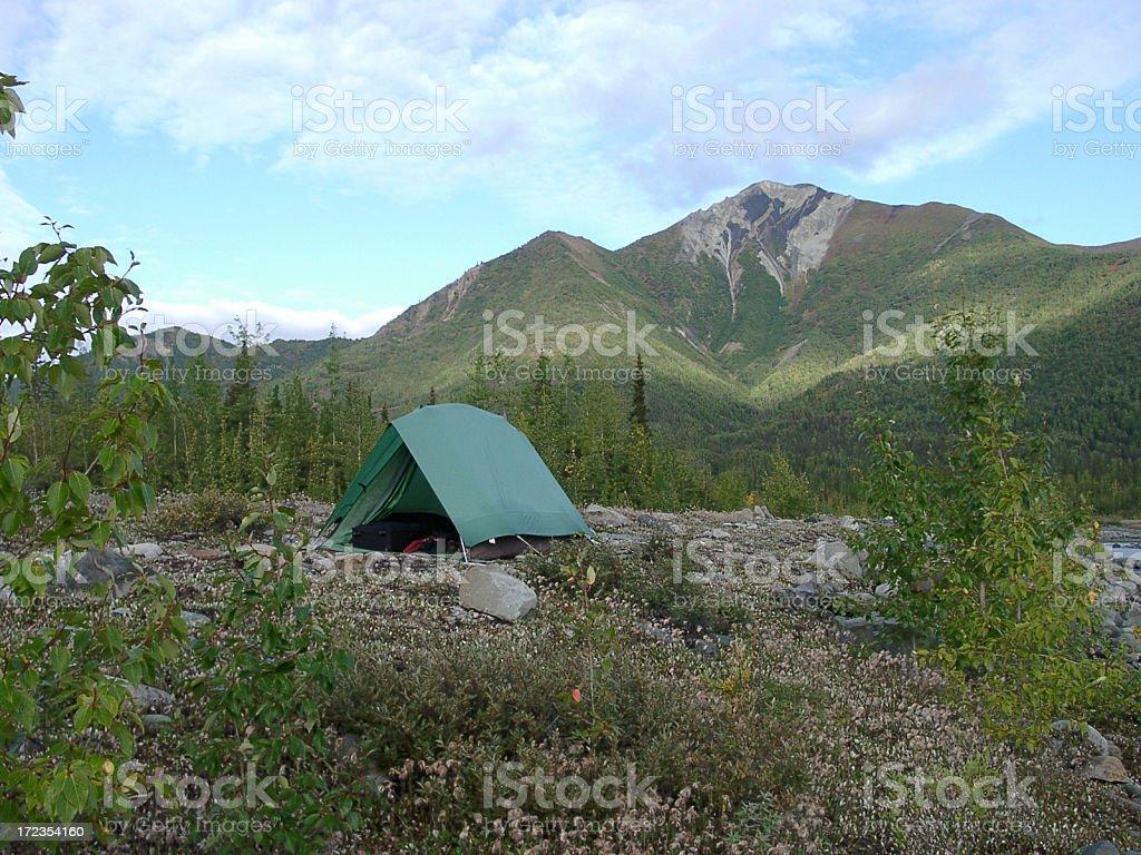 Silvestre outback carpa campamento foto de stock libre de derechos