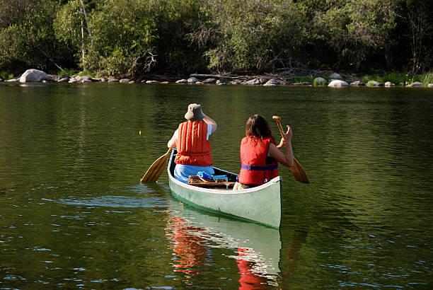 Wilderness Paddle, Yellowknife stock photo