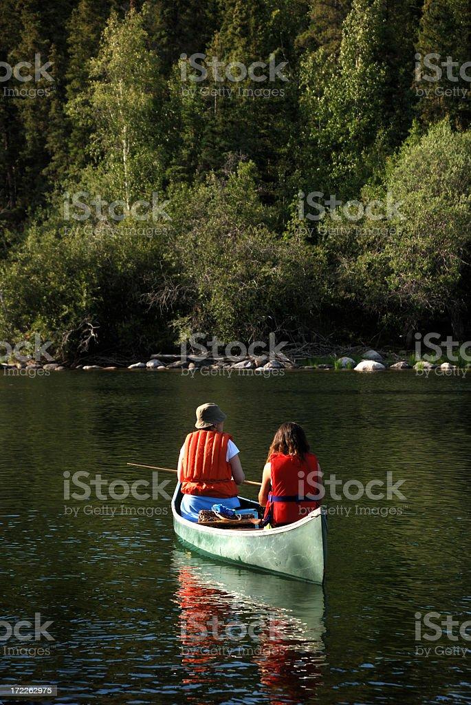 Wilderness Paddle, Yellowknife. royalty-free stock photo
