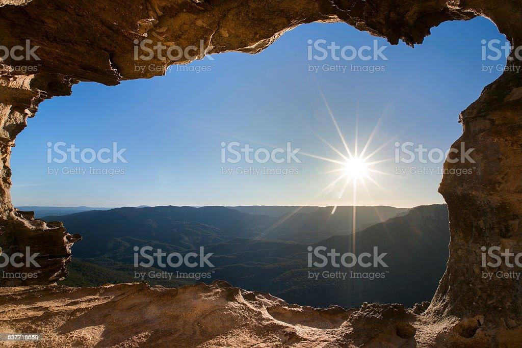 wilderness window. stock photo