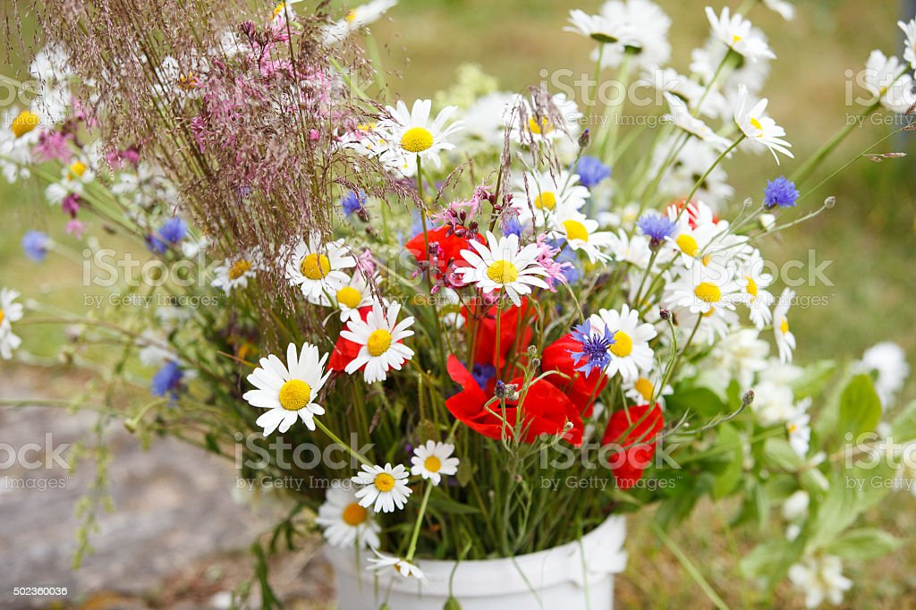Wildflower bouquet stock photo