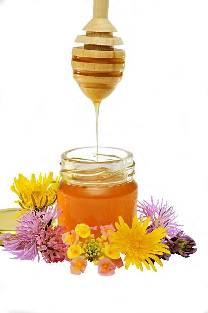 wildblumen honig - kastanienhonig stock-fotos und bilder