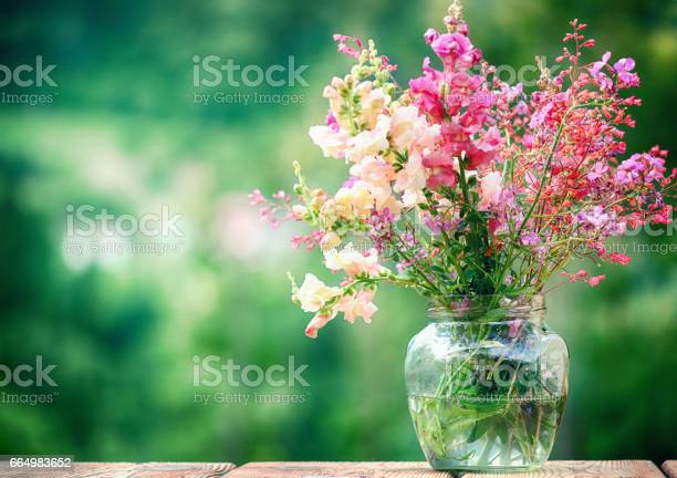 Wildflowers in a Glass Vase