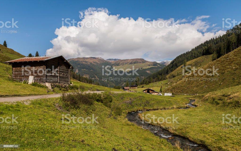 Wildgerlostal Gerlos stock photo