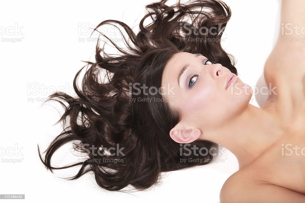 Wild-haired Beauty royalty-free stock photo