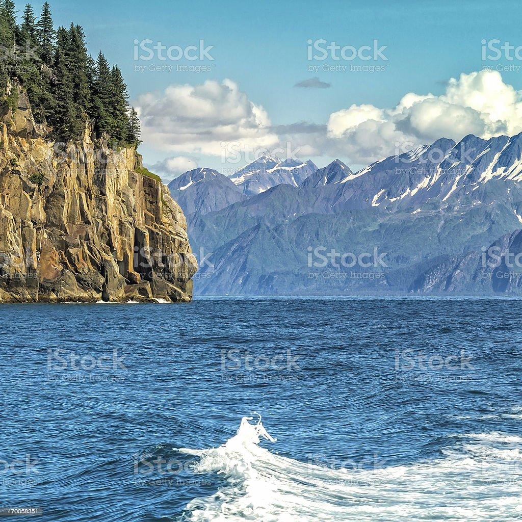 Wildlife Cruise around Resurrection Bay in Alaska stock photo