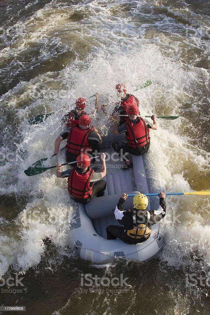 Wildwater rafting royalty-free stock photo