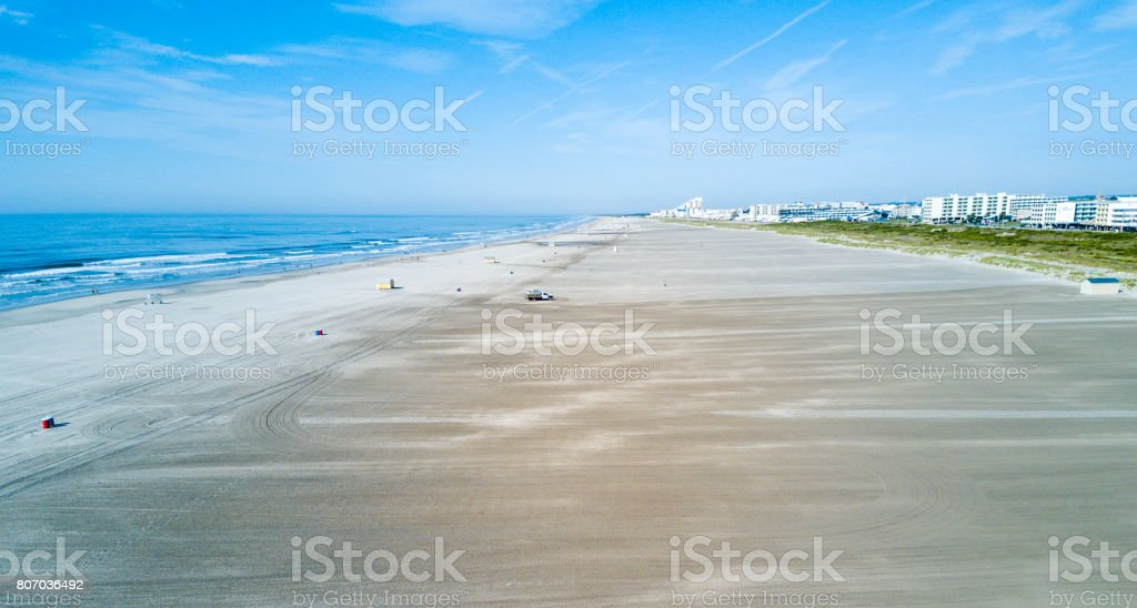 Wildwood Crest beach from above stock photo
