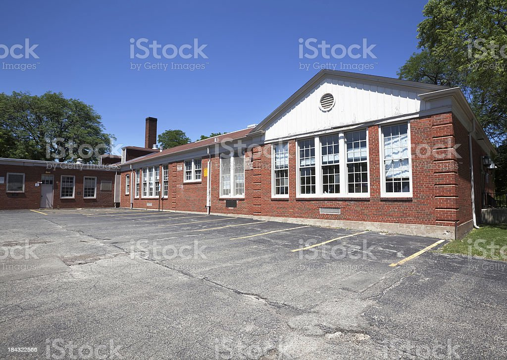 Wildwood Elementary School in Forest Glen, Chicago royalty-free stock photo