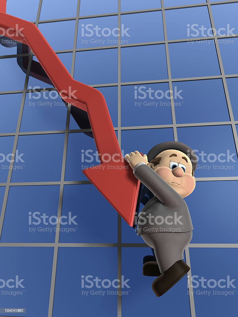 Wilfred Declining Graph royalty-free stock photo