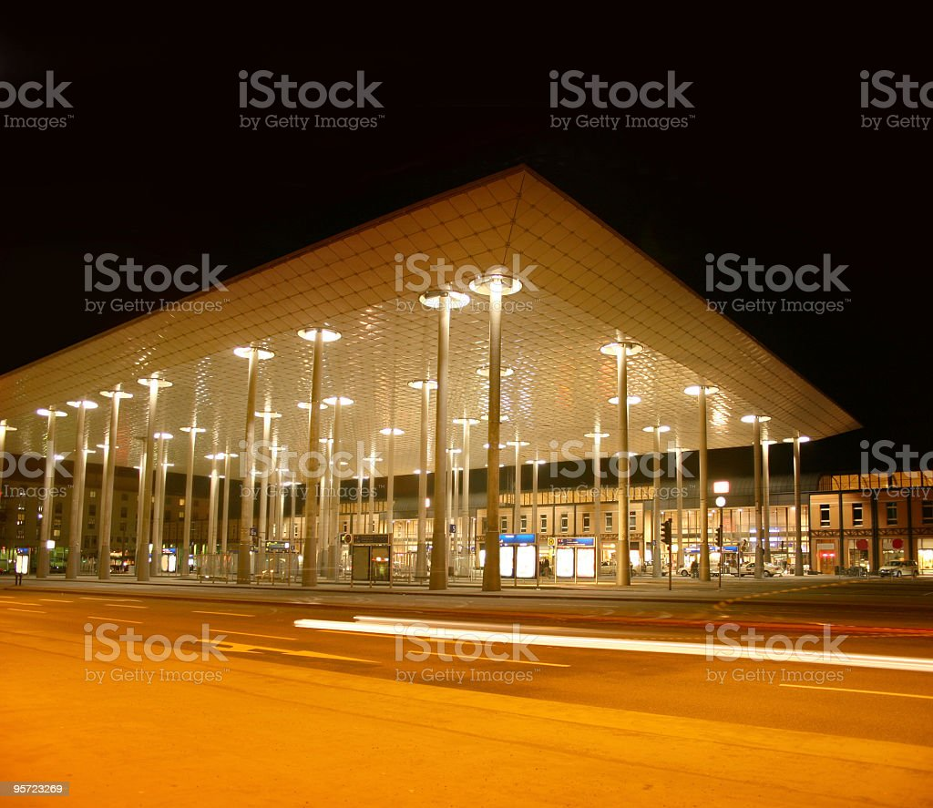 Bahnhof Wilhelmshöhe in Kassel royalty-free stock photo