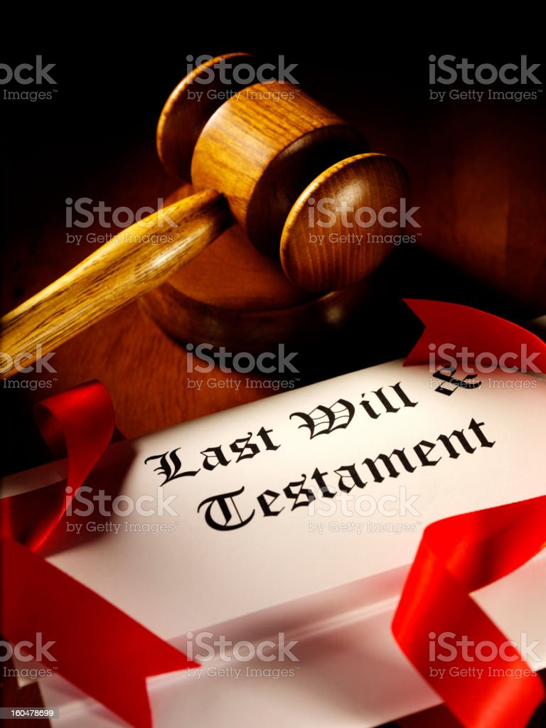 Will and Testament royalty-free stock photo