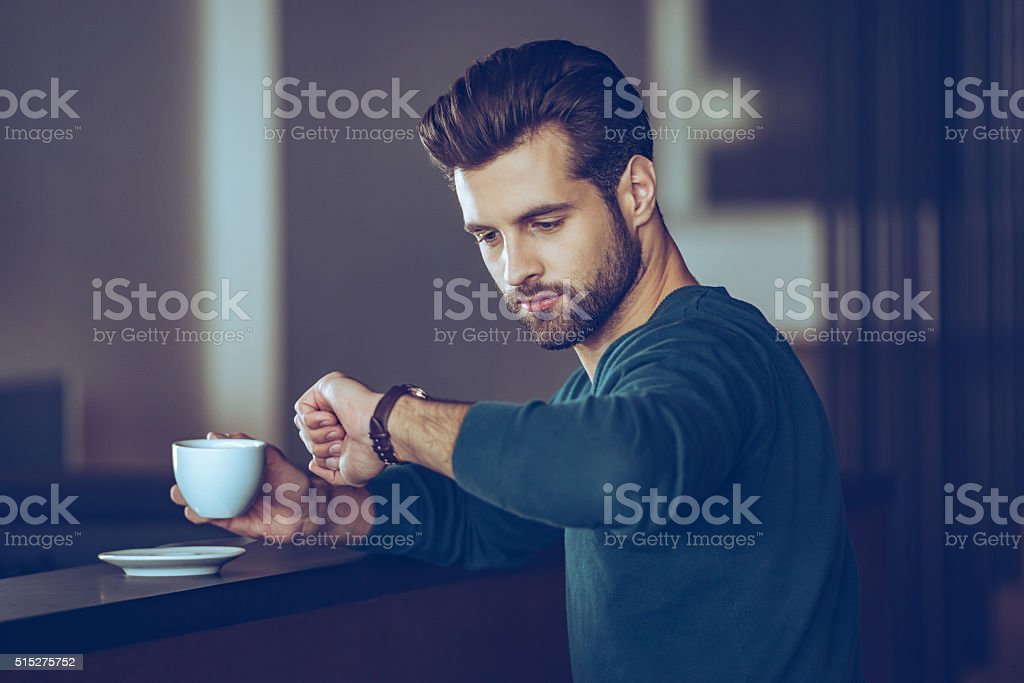I will be in time. stock photo