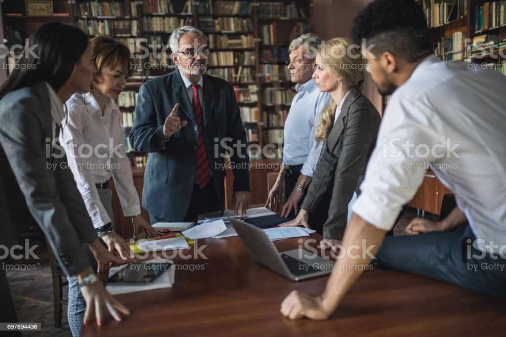 I will explain you our new business strategy! stock photo