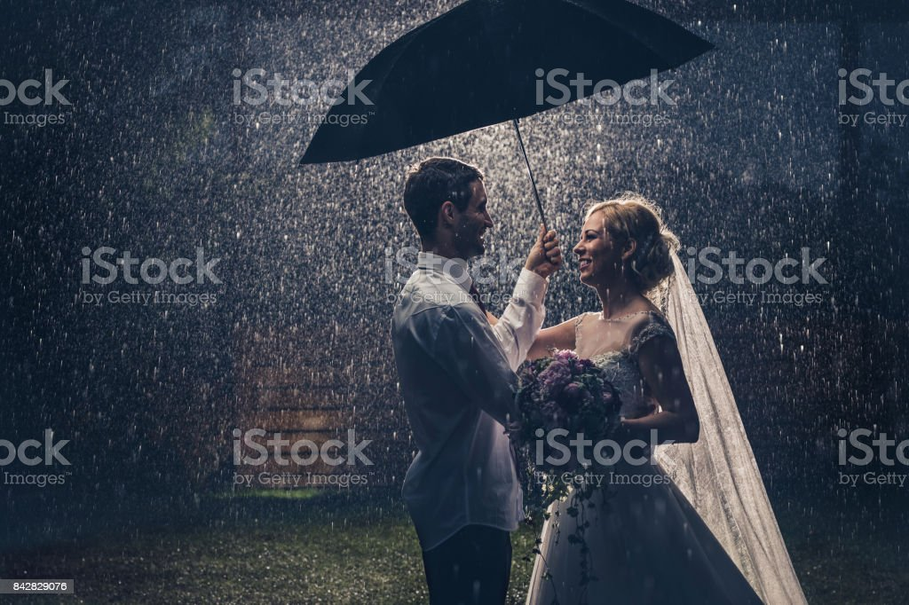 I will keep you safe during rainy nights! stock photo