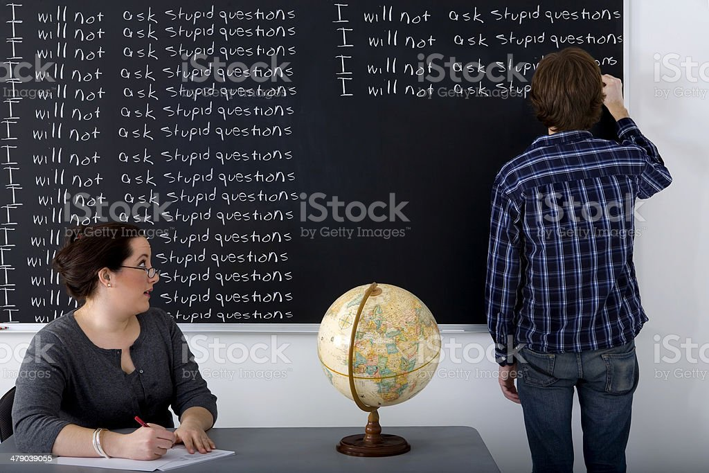 I will not ask stupid questions stock photo