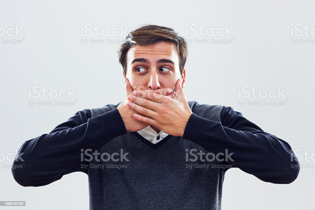 I will not say anything! stock photo