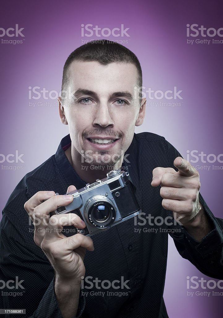 I will put you on magazine cover royalty-free stock photo
