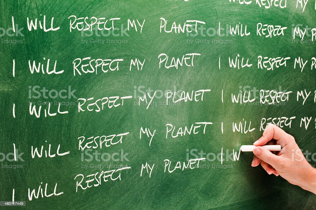 I will respect my planet royalty-free stock photo