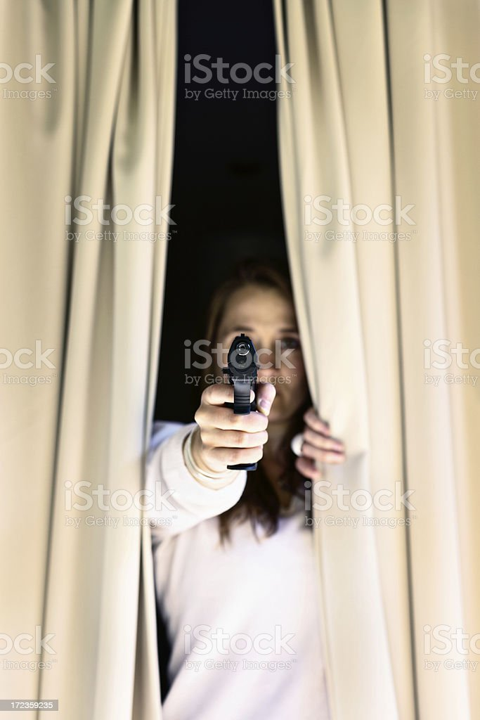 I will shoot to defend myself and my family! royalty-free stock photo