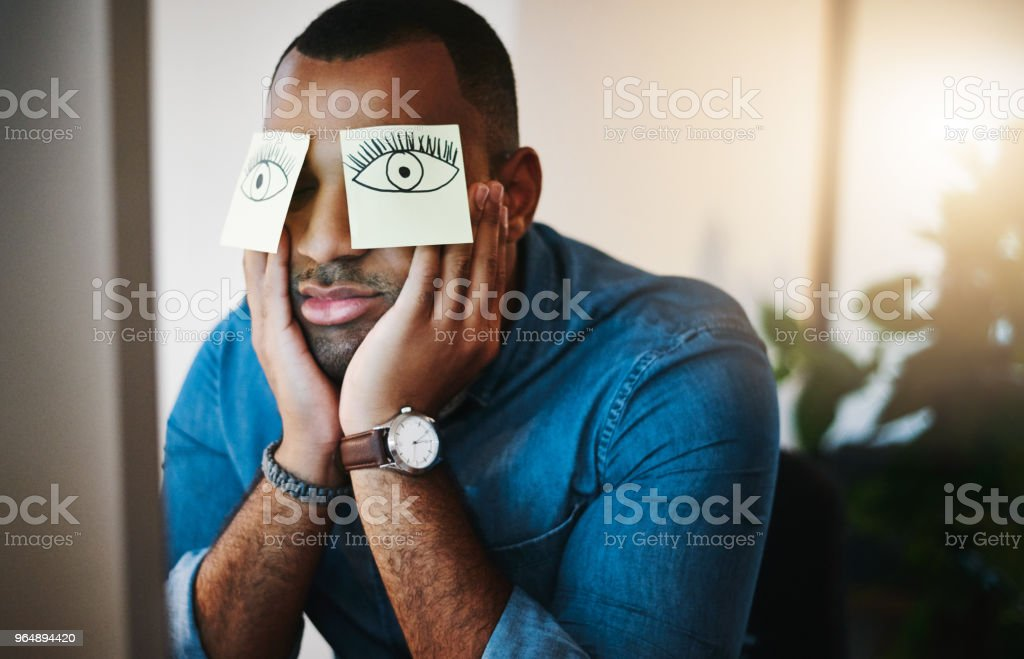 Will somebody wake me up when this shift is over? royalty-free stock photo