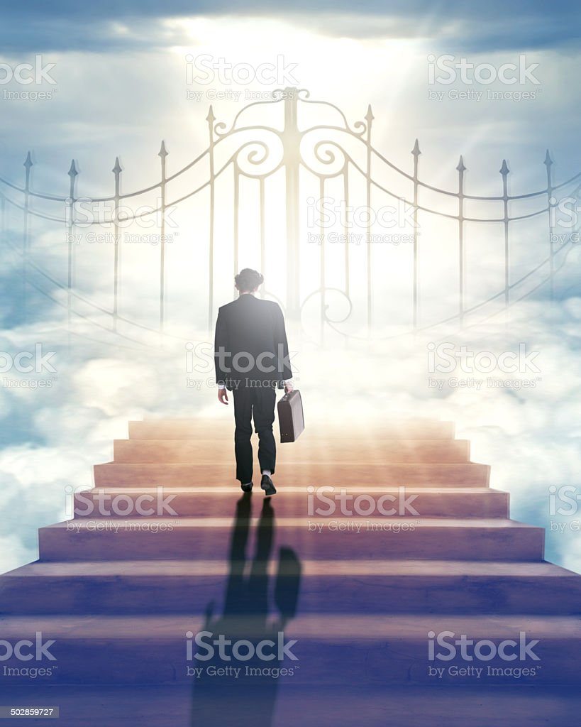 Will the gates of Heaven open for me? stock photo