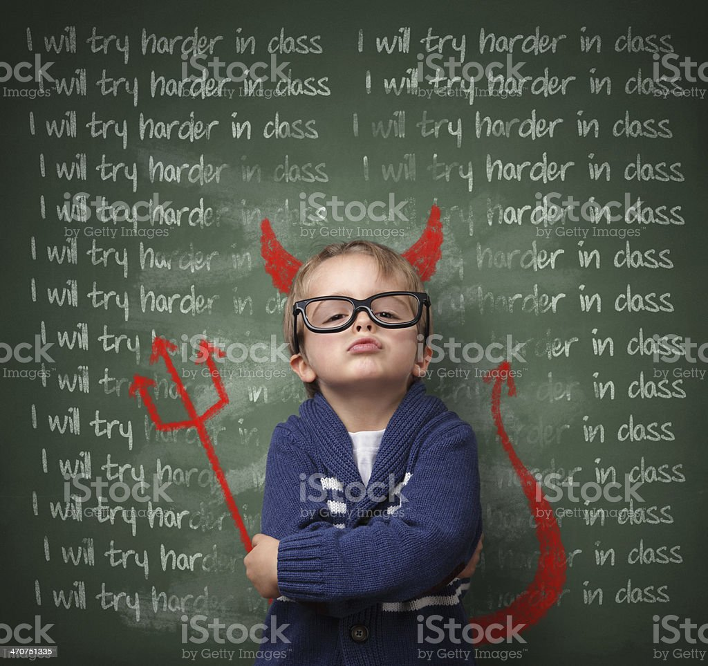 I will try harder in class - not stock photo