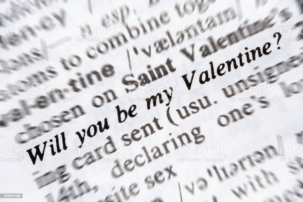 Will you be my valentine royalty-free stock photo