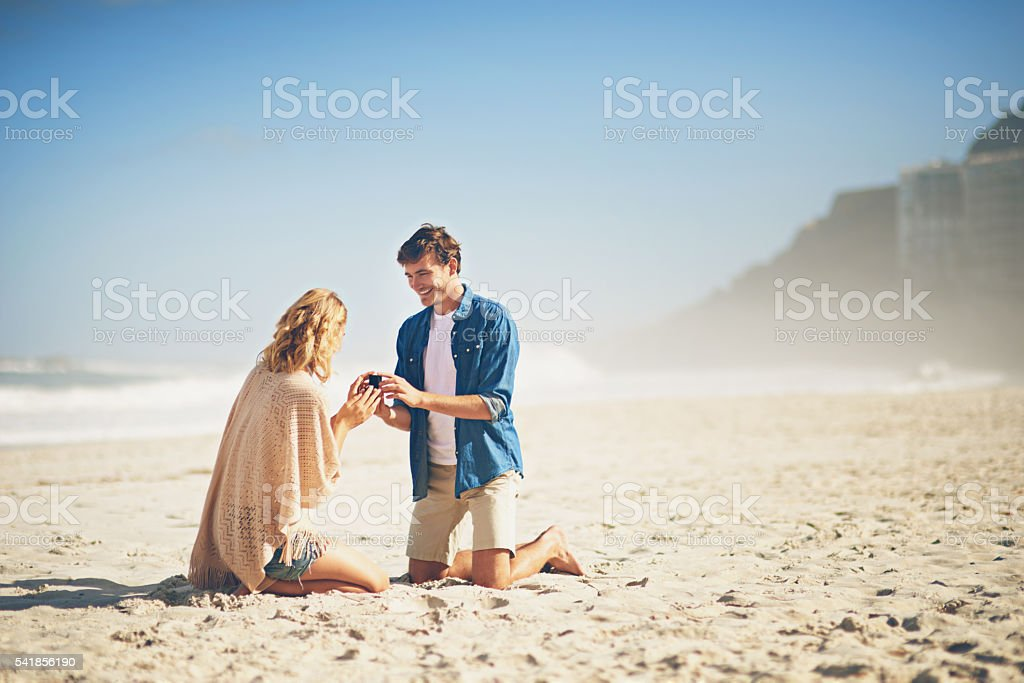 Will you make me the happiest man in the world? stock photo