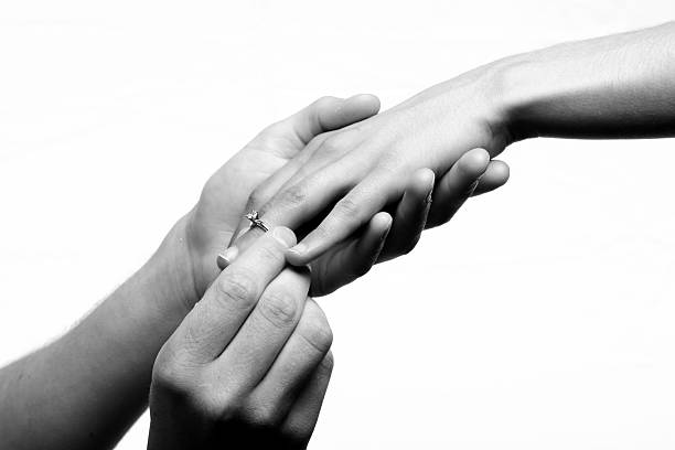 will you marry me? - diamond ring hand stock photos and pictures