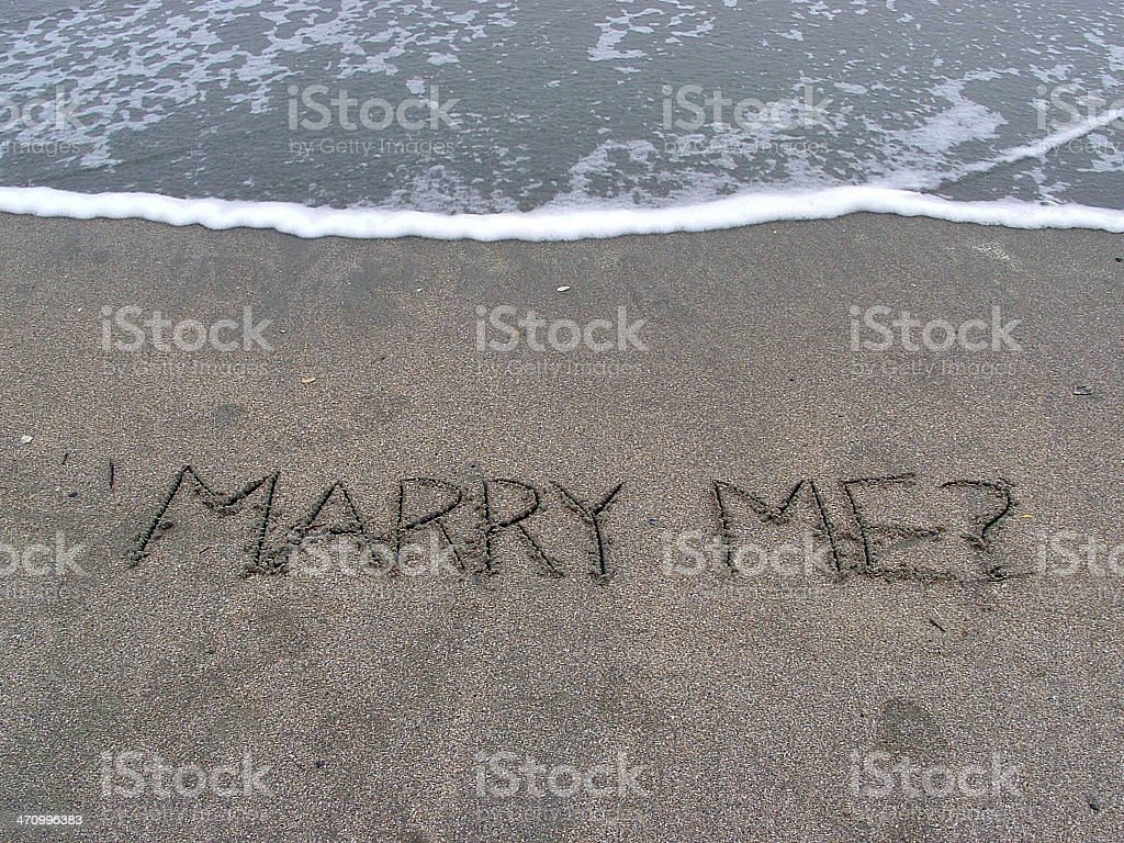 Will you marry me? royalty-free stock photo