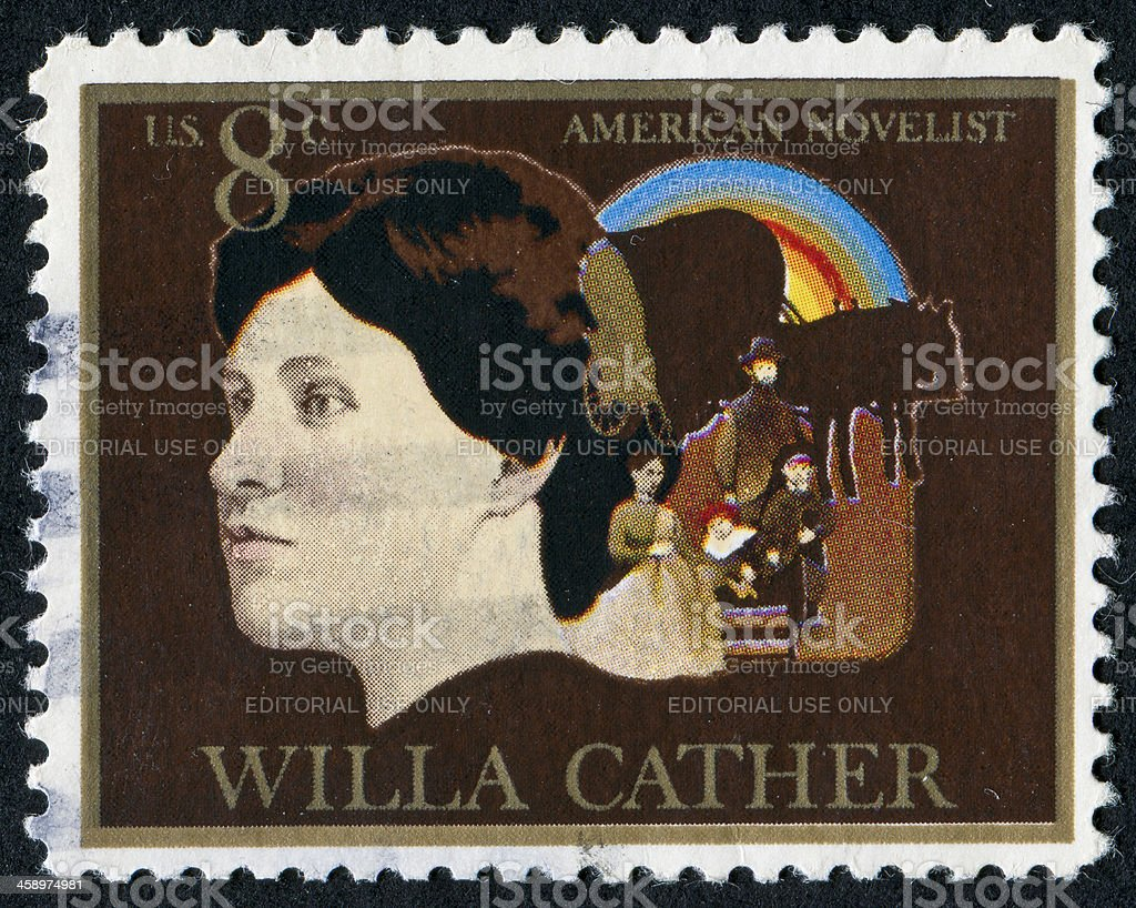 Willa Cather Stamp royalty-free stock photo