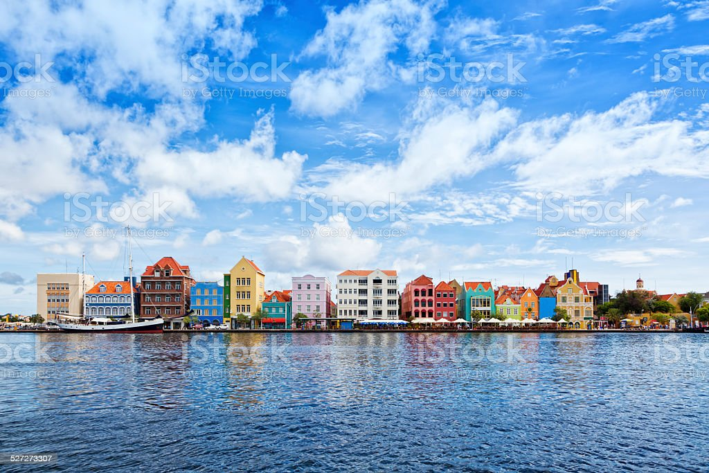 Willemstad, Curaçao - Handelskade with colorful facades stock photo