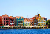 This shot highlights Willemstad's colorful architecture.