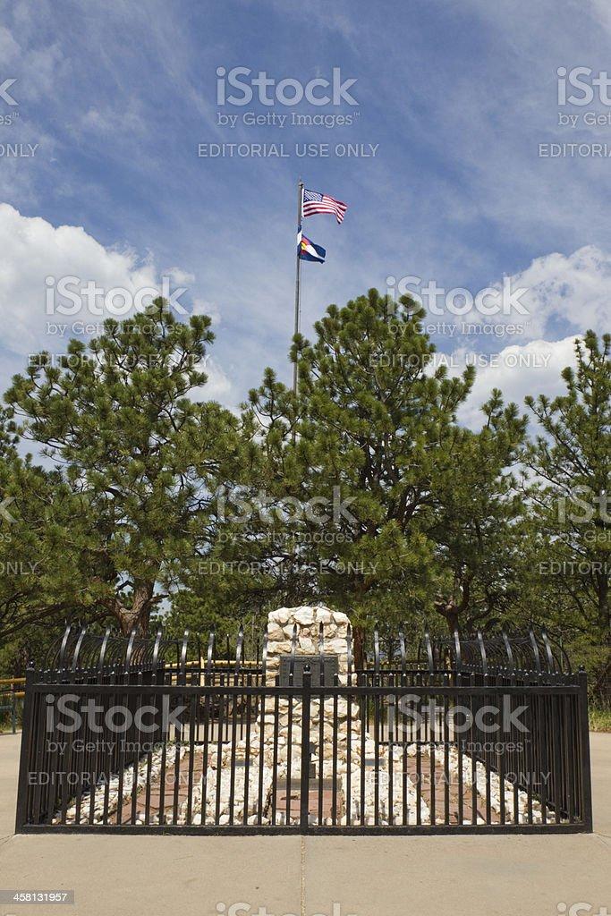 William Frederick 'Buffalo Bill' Cody's Grave - Golden, Colorado royalty-free stock photo